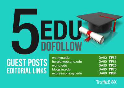 Provide you 5 Edu Guest Posts with Dofollow Links