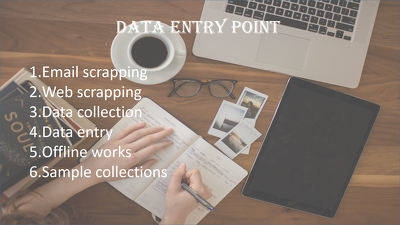 Do Email scrapping , data collection , data entry