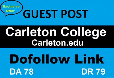 Guest Post On Carleton College , Carleton.edu DA 78