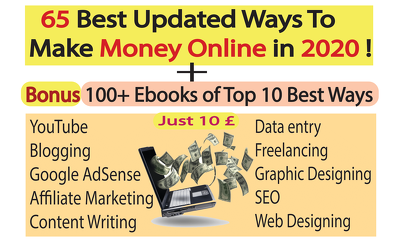 Give you the 65 best ideas to earn online,100 plus bonus ebooks