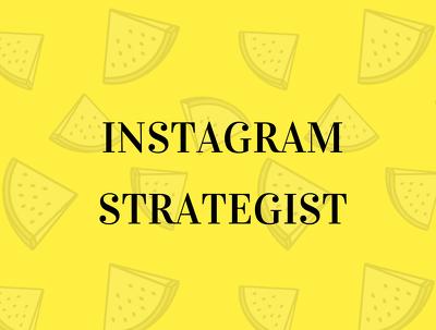 Be your Instagram Strategist