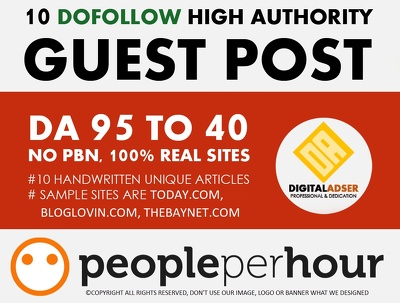 Write And Publish 10 Authority Guest Post DA 95-40 - UPDATED