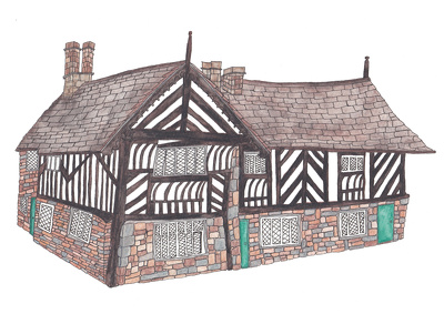illustrate a building/ house/ wedding venue etc in full colour