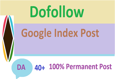 Do High Authority Google index guest post with Dofollow Backlink
