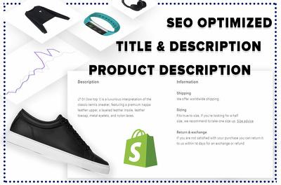 Write a full SEO Optimized and Persuasive Product Description