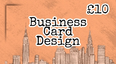 Custom business card design for only £10!