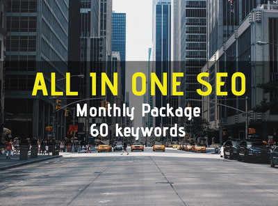All in one SEO Monthly Package, 60 keywords - White Hat SEO