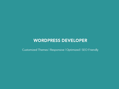Make responsive, optimized, SEO friendly wordpress website