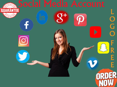 Setup create design all social media account and page
