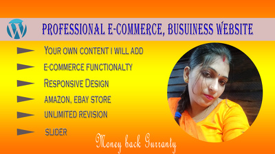 Design business or ecommerce wordpress website