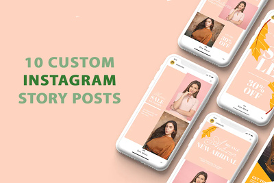 Create 10 Stunning Custom Designed Instagram Story Posts