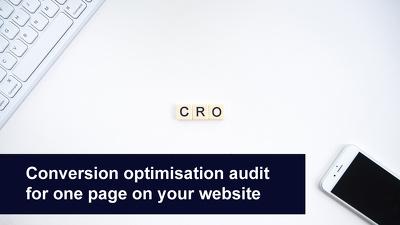 Convert more visitors with a conversion optimisation audit