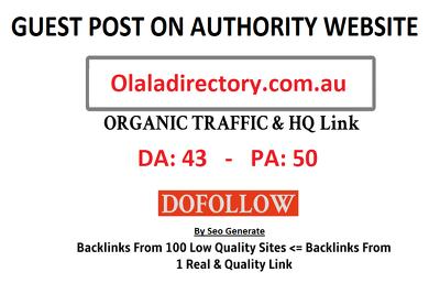 Add A Guest Post On Olaladirectory.com.au- DA 43