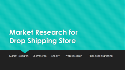 Market Research Report for Drop shipping Store