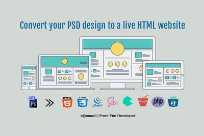 Convert your PSD design to a live HTML website