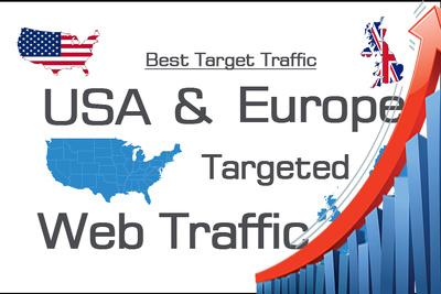 Bring 30000 HIGH quality USA  EU website traffic per 30 days