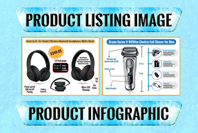 Design listing images / info graphic for ebay amazon