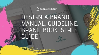 Design a brand manual, guideline, brand book, style guide
