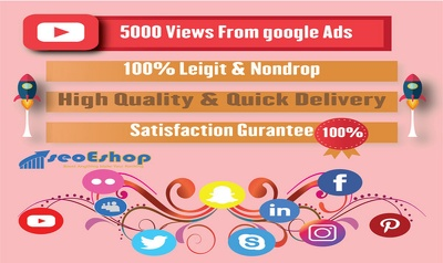 Real & Organic Youtube Promotion With Google Ads to 5000 people