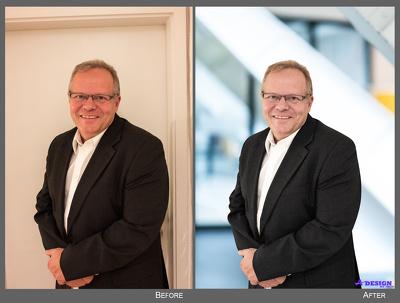 I can do your business headshot photos retouching, 02 photos.