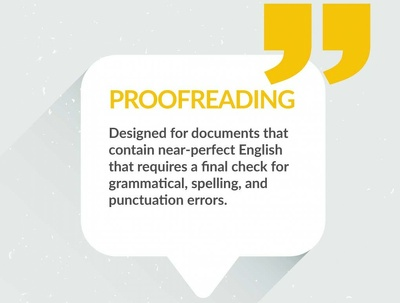Proofread and edit up to 1000 words