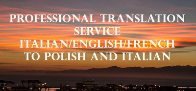 Translate up to 500 words from English/French to Polish/Italian