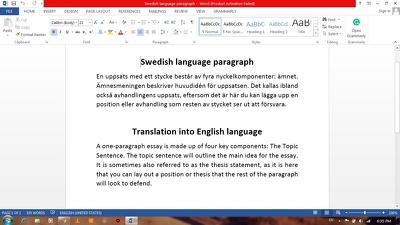 do translation job