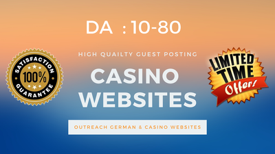 Publish Guest Post on Casino websites , German Backlinks