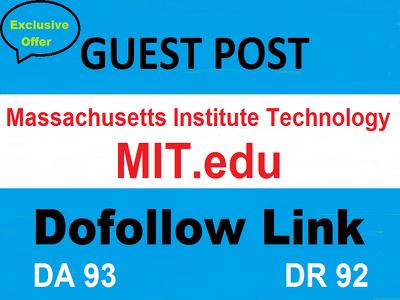 Guest Post On MIT.edu , Massachusetts Institute Technology DA 93