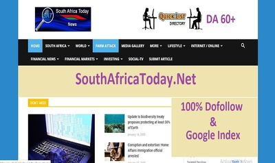 Do Dofollow Guest post on Southafricatoday.net