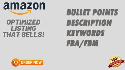 Create 1 new or optimize amazon product listing description