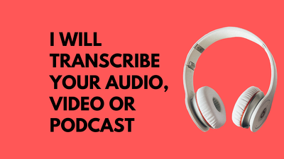 Transcribe up to 35 mins of your audio or video projects
