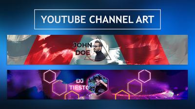 Design outstanding youtube channel art