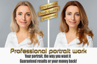 Do precision portrait and body slimming work, 2 images