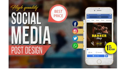 Design 10 high quality social media posts