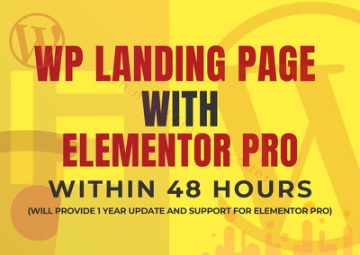 WordPress Landing Page With Elementor