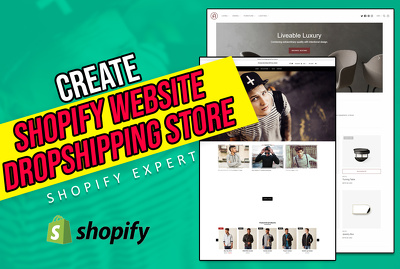 Create your shopify dropshipping store or shopify website