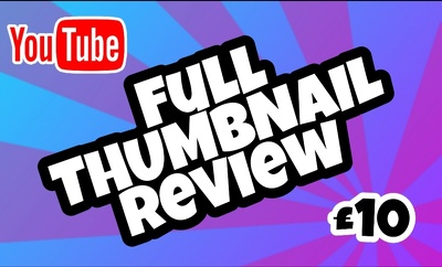 want more views? I can help! Full YouTube thumbnail review!