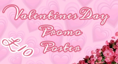Having a Valentines Day party? Promo poster for just £10!