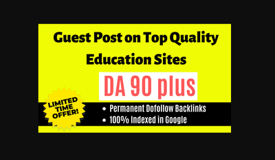Write and publish 5 guest post on top quality education websites