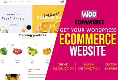 Create wordpress ecommerce website with woocommerce