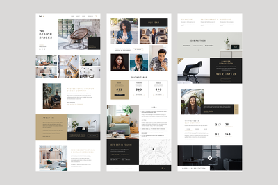 Design landing page for your product or website.