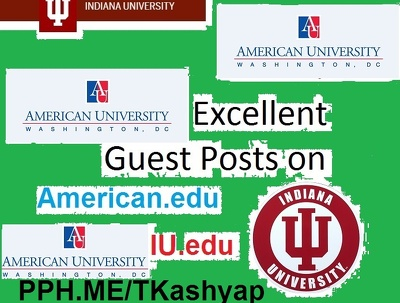 3 TOP QUALITY OFFICIAL .Edu Guest Post University Official Blog