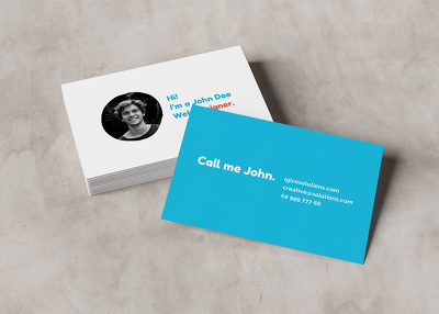 Design an outstanding business card ready for print
