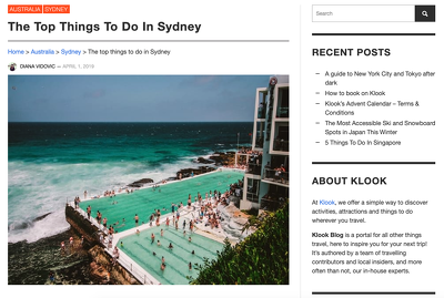 Write a 600-word article (copywriting) for travel websites