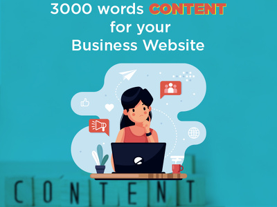 I will write 3000 words content for your business website