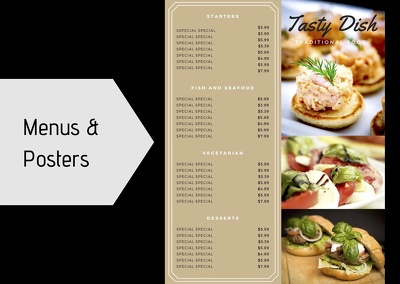 Create one sided menu or poster