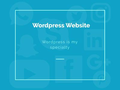 Develop your website on Wordpress