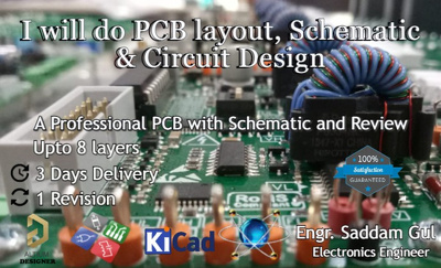Do a Professional PCB layout and Schematic Design
