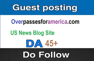 Do American Guest post on DA 45+ news site with Dofollow link